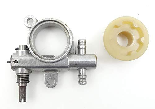 Pumpe ÖL Kette und Schraube ohne Ende Kettensäge ZENOAH G2500/G3300/G3800/gz3500/Alpina PR270/A305/cj300/Husqvarna T425/T435/Efco MT2600/125/Sauggerät GS260/925Fliege/Valex/Axo/AMA/Farmer/MGF 25cc
