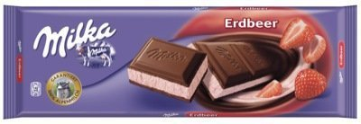 Milka Strawberry, 6 Chocolate Bars With Each 300 Grams, Total 1800 Grams
