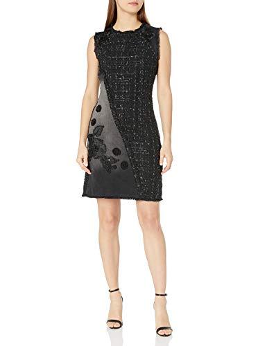 Desigual Damen Kleid VEST_ACHILLE Knielang, Schwarz (Black Denim 5009), 34 (Herstellergröße: 36)