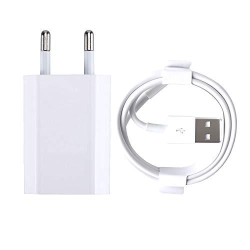 ZLONXUN Cargador 1A y Cable Compatible con iPhone 6/6S/7/6S plus/8/5/5S/7 Plus