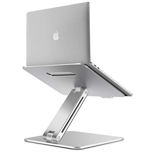 "B-Land Laptop Stand, Ergonomic Adjustable Laptop Holder Laptop Riser Aluminum Notebook Computer Holder Stand Compatible with MacBook, Air, Pro, Dell XPS, Samsung, Lenovo, Alienware All Laptops 10-17"""