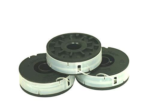 3x para Einhell et 500/30eléctrico cortabordes–Doble Bobina de hilo para recortabordes eléctrico
