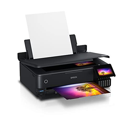 Epson EcoTank ET-8550 Imprimante Multifonction 3 en 1 pour Copie, numérisation, Impression, A3, 5 Couleurs, Impression Photo, Recto-Verso, WiFi, Ethernet, écran, USB 2.0, réservoir d'encre