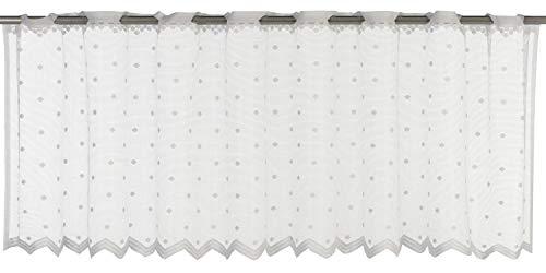 Elbersdrucke Celeste 00 Bistrogardine, Polyester, weiß, 45 x 160 cm