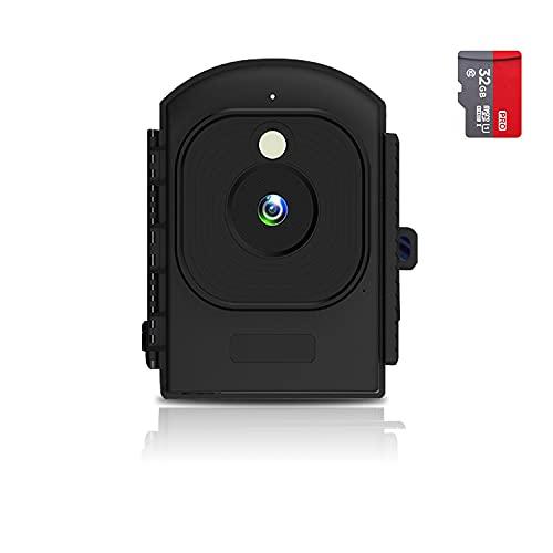 AlfaView Cámara de Lapso de Tiempo, Cámara de Cuerpo con pantalla de 2.4', para Policía Pequeña Portátil con Visión Nocturna Full HD 1920P, 110°, IP66, Tarjeta incorporada de 32 GB