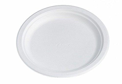 Teller D22Chinet weiße Faser, 100% Erneuerbare–125Pieces–Fab USA