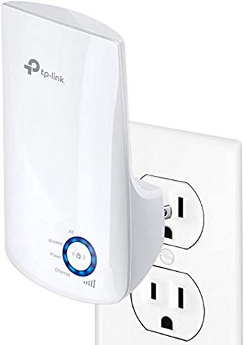 TP-LINK TL-WA850RE Repetidor de Wifi Extensor de Cobertura Inalámbrico Universal, 300Mbps, Enchufe de Pared, Tipo Plug and Play,...