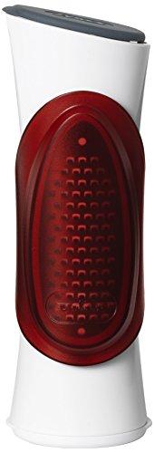 Zyliss ze900012Grate' N Shake - Rallador, plástico/Acero Inoxidable, Color Blanco/Rojo, 18,5x18x19,5cm
