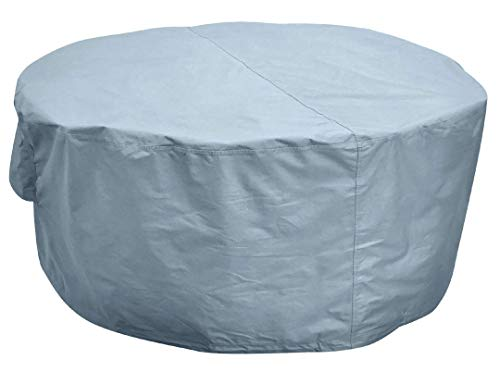Kingsbridge Round Garden Patio Table Cover Waterproof 600D Heavy Duty Fabric Double Stitching UV Protection Breathable 150 x 69cm Outdoor Furniture Cover
