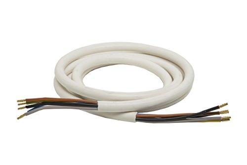 3,0m Herdanschlussleitung H05VV-F 5G 2,5 mm² weiß