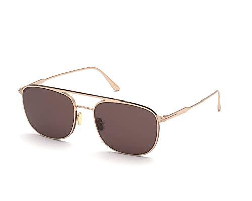 Tom Ford Gafas de Sol JAKE FT 0827 Shiny Rose Gold/Brown 56/20/145 hombre