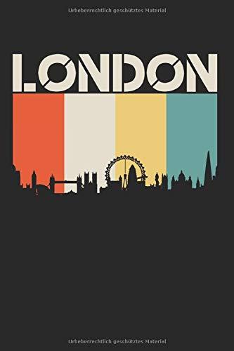 London Flagge Skyline Fahne Usa Amerika Staat Notizbuch: 120 Seiten Gepunktet
