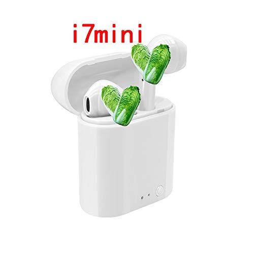 YHSM i7 Mini Auricular Bluetooth TWS Mini estereoscópico Real de Doble Oreja con Auriculares inalámbricos Compartimiento de la Caja de Carga