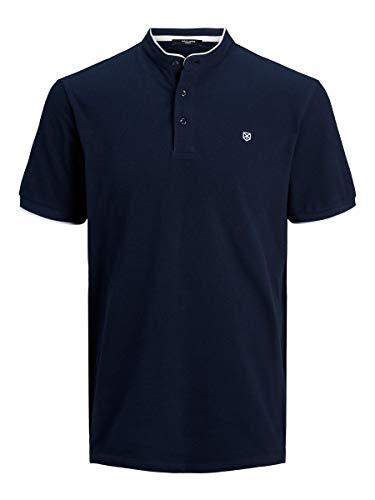 JACK & JONES Male Poloshirt Mandarinkragen LNavy Blazer