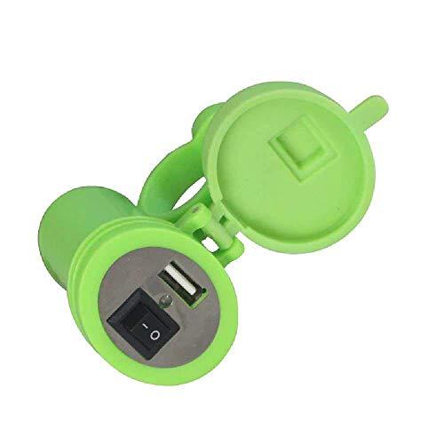 Zhuao Motorfiets-telefoonlader, USB-oplader, waterbestendige accessoires, 12 V batterij-transfer verlichting