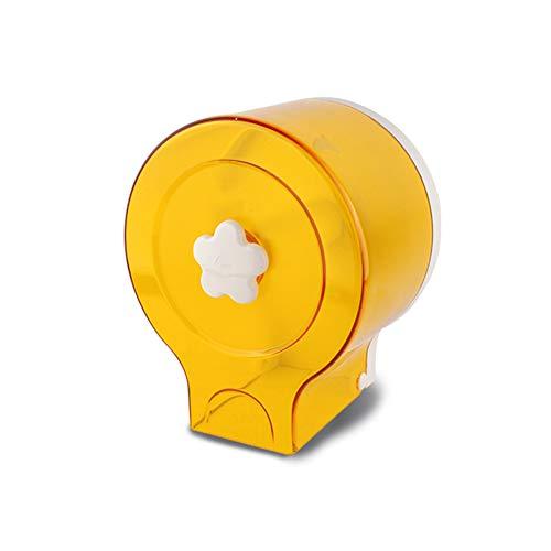 Gymy Papel de baño toalla caja de papel papel higiénico caja de papel cartucho de papel higiénico cartucho de perforación libre, amarillo - 17×12.5×20cm
