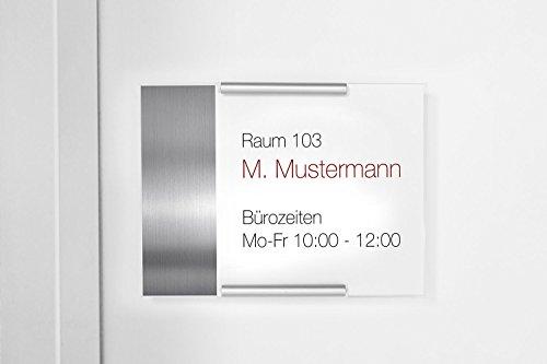 Türschild Topas (Büro, Office, Praxis, Verwaltung) - Acryl und Aluminium (160 x 120)