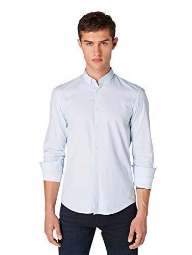 TOM TAILOR Denim Blusen, Shirts & Hemden Hemd mit Allover-Print Blue dot Diamond Print, L