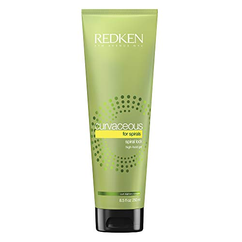 Redken Curvaceous Spiral Lock High-Hold Gel | For Wavy To Curly Hair | Defines Curls & Protects Against Frizz | 8.5 Fl Oz