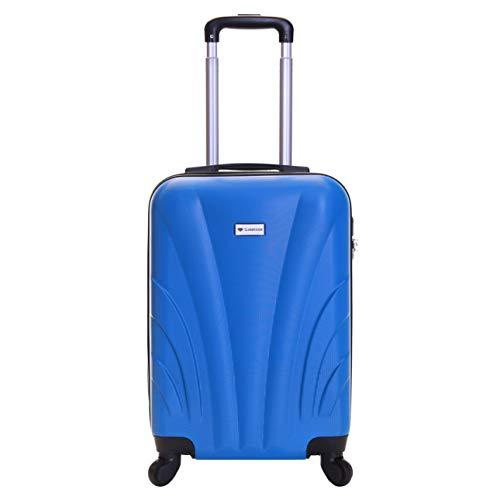 Slimbridge bagaglio a mano dura valigia rigida 55 cm 2,5 kg 35 litri con 4 ruote robuste e numero di blocco, Ferro (Mirtillo Blu)