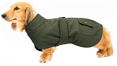babepet Disfraz de abrigos de perro, perfecto para perros salchichas, abrigos cálidos de cuello alto para invierno, traje de nieve para perro con bandas ajustables