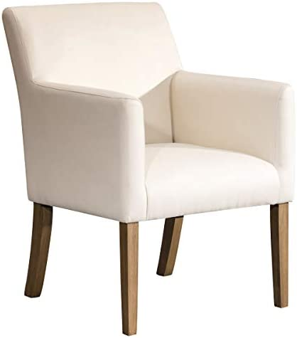 Best HomePop Lexington Faux Leather Accent Chair, Cream
