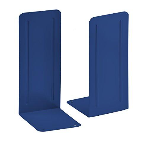 Acrimet Jumbo Premium Metal Bookends 9 (Heavy Duty) (Deep Blue Color) (1 Pair)