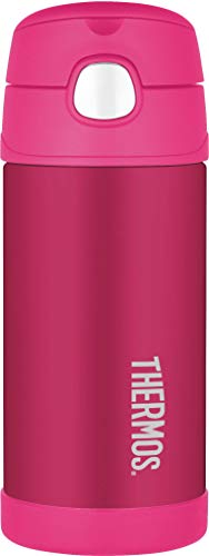 Thermos Funtainer Trinkflasche aus Edelstahl, 355 ml Strohhalm für Flasche rose