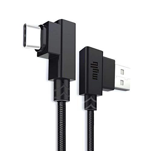 MYLB Cavo USB Type C, Cavo USB C a USB 2.0 di Tipo C cavo per Samsung Galaxy Note 8/ S8,,Huawei,OnePlus, Sony Xperia, HTC, LG,Altri dispositivi di interfaccia TYPE C (10CM, nero)