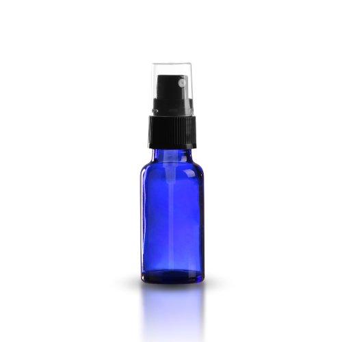 10x Azul Cristal Botella 20ml spray de color azul/Incluye Pump vaporizador/cabezal pulverizador...