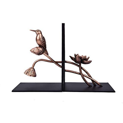 SBDLXY Sujetalibros de Arte Sujetalibros de Metal Creativo Decoración de Estudio de Metal Decoración Moderna Minimalista Oficina Estantería Antideslizante Extremos de Libros