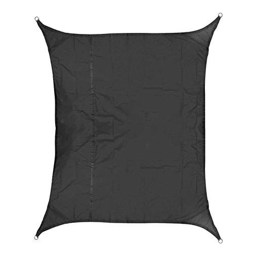 KENG Wasserdicht Zelt, 3x4m 420d Oxford Polyester Zelt Parasol Segel wasserdichte Überdachung Vordach im Freien Draussen (Color : Black)