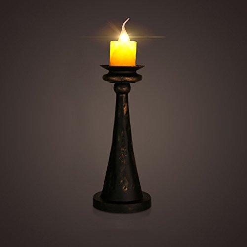 ZWL Rétro lampe de table à la bougie, Loft Cafe Restaurant Bar Décoration Bougeoir Lampe de table Fer Studio Studio Simple tête E14, 35 * 45CM Bouton d'alimentation fashion.z (taille : 35 * 45cm)