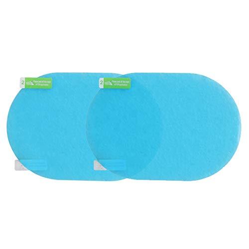 Benlasen Auto achteruitkijkspiegel beschermfolie, HD heldere regendichte film anti-schittering anti-mist waterdichte film voor auto spiegels en zijramen Oval Blauw