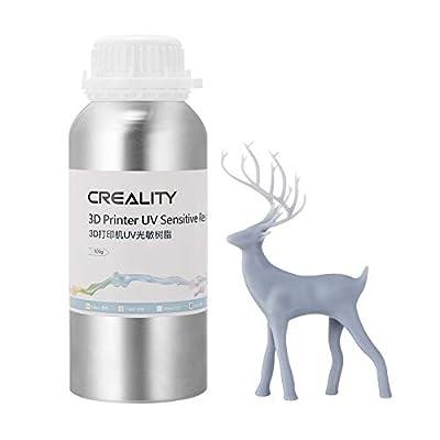 Creality 3D Printer UV 405nm Sensitive Resin Rapid Photopolymer for LCD 3D Printers 500g, Grey