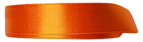P&B de Haute qualité Double Face Ruban Satin, Polyester, Orange, 24 mm x 25 m