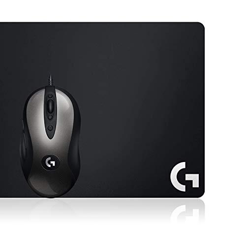 Logitech G MX518 Gaming-Maus mit HERO 16000 DPI Sensor, ARM-Prozessor, 8 programmierbaren Tasten plus Logitech G240 Gaming-Mauspad aus Stoff, 340x280 mm, 1mm flaches Profil, Geringe Oberflächenreibung