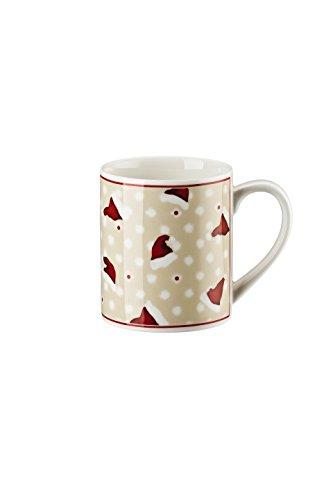 Hutschenreuther - Little Christmastown Becher mit Henkel - Henkelbecher - Kaffeebecher - Motiv: Mützen 400 ml [W]