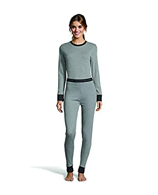 Hanes Women's Color Fusion Thermal Baselayer Pant Grey Combo