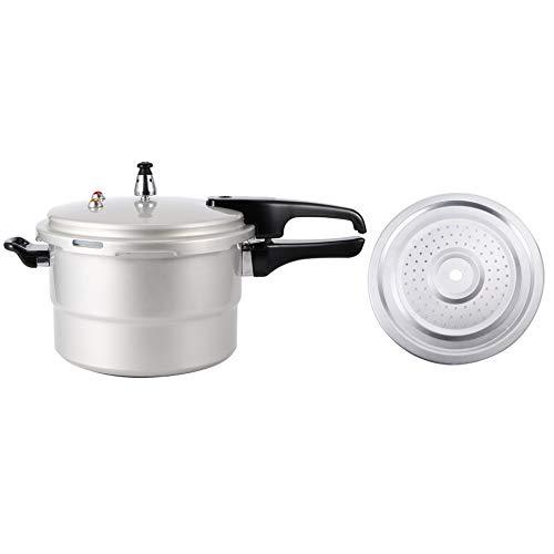Pentola a pressione per uso domestico antideflagrante con strato fumante per fornello elettrico in ceramica a gas adatto per fagioli, carne, verdure, zuppe(22 cm)