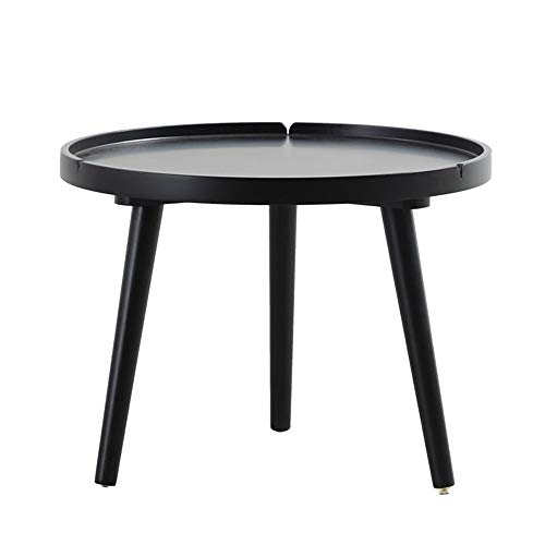 MICEROSHE Home Side Table Modern Furniture Round Coffee Table Living Room Balcony Mobile Snack Table Durable And Easy To Assemble Stable and Stylish (Color : White, Size : 50x38x38)