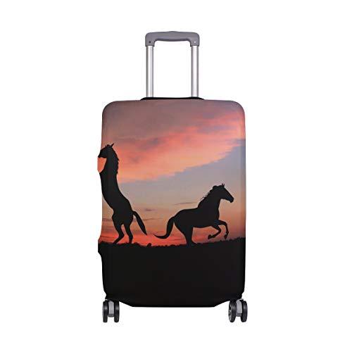 FANTAZIO - Copertura Protettiva per Valigia con Cavallo sopra Il Tramonto