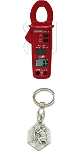 Preisvergleich Produktbild Benning Dig.-Stromzangenmultimeter CM1-2 mit Anhänger Hlg. Christophorus