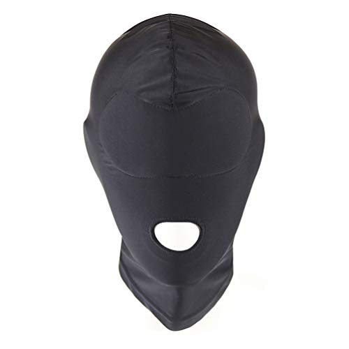 The Gallery Memory Full Cover Zentai Hood Mask Elastic Black Breathable Open Mouth Face Cover Eye Thick Sponge Cushion