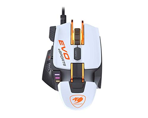 COUGAR 700M EVO Esports 16000 DPI Optical Gaming Mouse with Adjustable Palm Rest, Weights and Fully Configurable Buttons