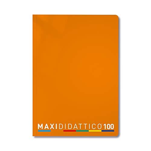 Tecnoteam 608_5MMDS Quaderni Maxi Didattico,  5mm, 5 Quaderni Arancio  , Confezione da 5