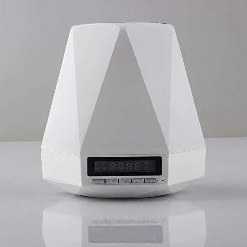 DKEE altavoces inalámbricos Bluetooth portátiles, lámpara de escritorio Bluetoo, Luz de la noche, lámpara de cabecera inteligente, alarma-despertador Raven_90MM * 105 mm, con Alexa voz y Bluetooth dec
