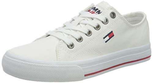 Tommy Jeans Low Cut Vulc, Zapatillas Mujer, White, 37 EU