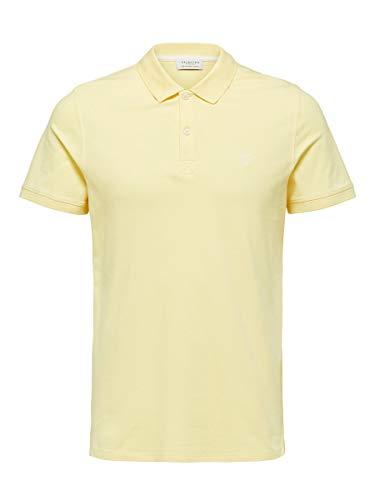SELECTED HOMME Herren 16049517 Poloshirt, Gelb(Lemon MeringueLemon Meringue), Small
