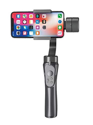 片手持ち3軸スタビライザー 360°手ブレ防止 専用APP不要 Vlog作り 自撮り用 iPhone/Android対応 日本語取説付属